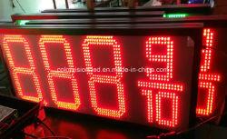 Gaz de pétrole a conduit à l'extérieur de la station numérique panneau LED d'affichage du prix du gaz