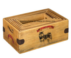 Cuadro Malamute de Alaska Malamute Vintage de un gran regalo de la caja de almacenamiento solo