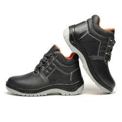 Anti Smash le cuir des chaussures de sécurité pour le travail