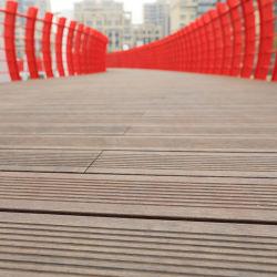El 20% de descuento de 18/20mm de espesor carbonizado en el exterior impermeable color Jardín techado de bambú carbonizado Natural /Strand comprimido tejida Pisos de bambú)