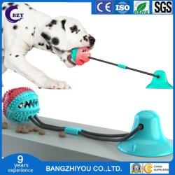 吸引のコップ犬のおもちゃの鋭い球に対して抵抗力があるモルの歯の漏出装置