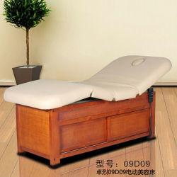 良質の電気Pedicureの椅子の美の顔のベッドの安い価格の記憶(09D09)を用いる木のマッサージ表