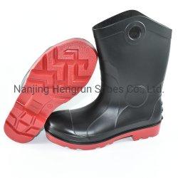 Защитный водонепроницаемый против Smash, прокалывать, маслостойкий ПВХ защитные ботинки для мужчин