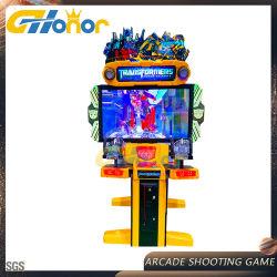 De beste Verkopende Muntstuk In werking gestelde het Ontspruiten van de Simulator het Ontspruiten van het Kanon van de Arcade van het Spel het Ontspruiten van de Arcade van de Machine van het Spel het Ontspruiten van het Kanon van de Laser van het Spel Machine van het Spel met Lage Prijs