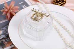 Produttore all'ingrosso squisito portacampione di cristallo per regali di nozze/regalo di cristallo trasparente, contenitore di candela, artigianato di vetro, decorazione di Natale