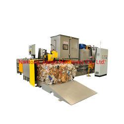 트윈 램 완전 자동 수평 유압 알루미늄 캔/플라스틱 병/PET 병/폐기물 종이/판지/상자/필름 프레스 발러