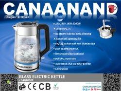 Canaanand - Compact Home Kleine Glaskessel, 1,7 Liter Akku-Mini-Wasserkocher