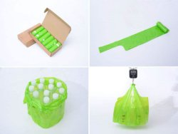 Productos para Mascotas bolsas de caca de perro con dispensador de bolsas de caca de perro