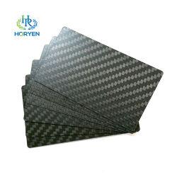 Nuevo diseño de corte CNC personalizado de fibra de carbono de la tarjeta de Nombre de tarjeta de presentación de lujo