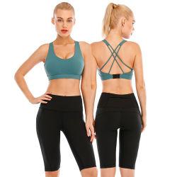 2021 صالة وصول جديدة شعار مخصص Running Gym تمرين اليوغا حمالة الصدر تمرين التمرين يتفوق على السيدات في رياضة ارتدادي