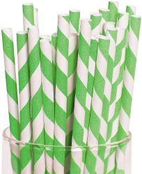 Биоразлагаемые Vintage бумаги питьевой трубочки, зеленый