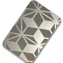 precio de fábrica caliente vender 304 201 Etch Hoja de acero inoxidable decorativos para el ascensor y levante
