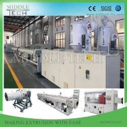 작은 직경(63-110mm) 플라스틱 HDPE 및 PE 물/가스 압력 파이프/튜브 메이킹 기계 / 압출기 공급업체