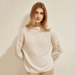 Service OEM col rond Cashmere pull pullover en tricot à nervure