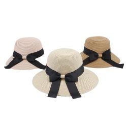 2020 Nuevo papel de la llegada de cinta de malla de señoras verano Playa Sol gorras para mujer