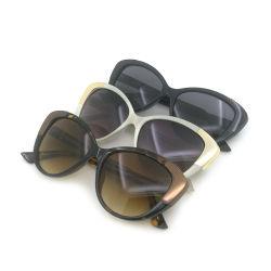 2020 El diseñador de moda de gafas de sol polarizadas de plástico para damas y mujeres