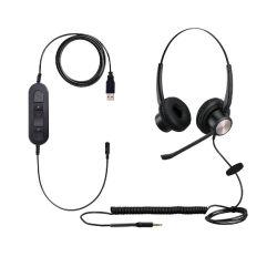 Профессиональный USB-гарнитуры для Microsoft групп, Skype Чат и сотовые телефоны, ноутбуки и Tablelet