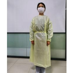 Prêt à expédier l'isolement Gownppe costume Costume Vêtements de protection jetables