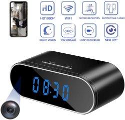 Relógio de Alarme Digital Full HD WiFi da Câmara de gravação de vídeo em loop
