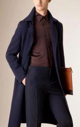 طويلة صوف توليف معطف لأنّ رجال شتاء سميك طبقة صوفيّة