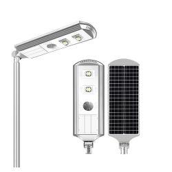 Rue lumière solaire 40W 50W 60W intégré étanche 20W 30W 60W 90W 120W Lumière extérieure solaire avec perche en acier