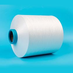 TBR 공단 브롬 밝은 광택 100 부인자 100 D 처리되지 않는 백색은 길쌈한 레이블을%s 씨실 재생한 DTY 폴리에스테 털실을 무늬를 짜넣었다