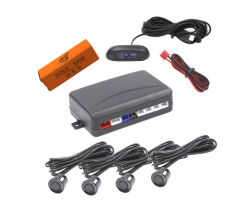شاشة LED رادار سيارة مساعد الرجوع للخلف مع 4 موجات فوق صوتية جهاز الاستشعار
