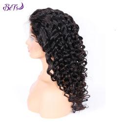 Lockige volle Spitze-Perücke des Dame-indische Haar-12A Guangzhou tief
