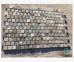 Openlucht Natuurlijk cobble straatsteennetwerk