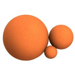 كرة تنظيف الأنابيب من المطاط ذات الإسفنجة الصلبة الناعمة المخصصة