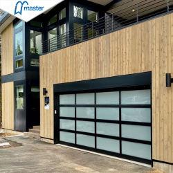 La conception de la porte de garage de verre aluminium 16*7 portes de garage dépoli de Plexiglass