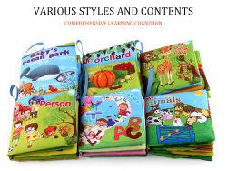 Libri di bagno del bambino, libri di stoffa morbida del tessuto non tossico del bambino, giocattoli di formazione in anticipo per il toddler, libro di stoffa crinkly dei bambini