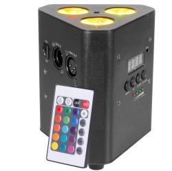 3÷ 10W LED Quad RGBW alimentada por pilha LED Wireless Uplights Aquecedor de serrilha