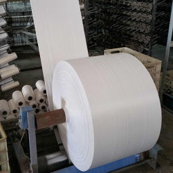 Fabricant vierge 100 % Rouleau de papier couché en polypropylène étanche raphia sacs PP tubulaire blanc tissu tissé pour les sacs