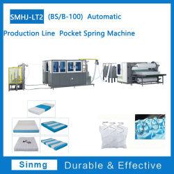A linha de produção automática da mola de bolso colchão fio máquina máquina de formação da Máquina