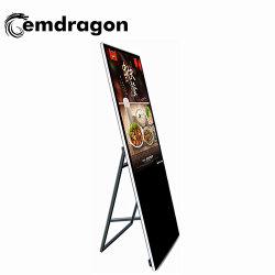 43-дюймовый портативная реклама ЖК-дисплей LCD Digital Signage реклама OEM отображения видео с выложенным плитками полом на английском языке видео плеер