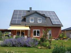 Оформление на крышу системы солнечной энергии питания системы