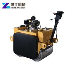 O modo de vibração hidráulica automática de rolo de estrada do compactador de solo com tambores de duplo