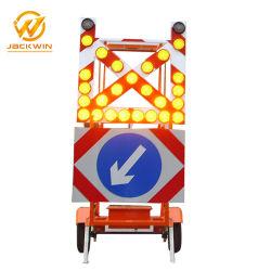 De Mobiele Aanhangwagen van het Signaal van de Pijl van het Waarschuwingssein van de Driehoek van de Auto van de Aanleg van LEIDENE Wegen van Tekens
