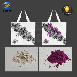 Ocrown tipo fotocrómico Pó de pigmento sensível à luz solar a mudança de cor em pó