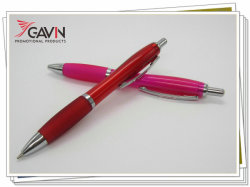 Bolígrafo de plástico de contorno curvada para promoción