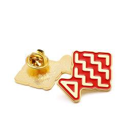 Commerce de gros prix d'usine peinture or Oman souvenir les axes CUSTOM Badge magnétique