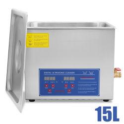 Мощные из нержавеющей стали 15 л литров ультразвукового очистителя 760W цифровой таймер обогревателя