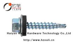 Koolstof C1022 Zink Steel#14*25, #14*32 van de Wasmachine van de Schroef EPDM van de hexuitdraai de Hoofd Zelf Onttrekkende Boor Geplateerde