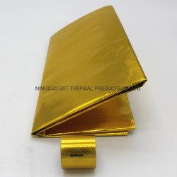 Materiaal van het Schild van de Hitte van het Aluminium van de Bescherming van de isolatie het Gouden Ceramische