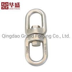 Hardware de marinos de la fábrica de acero inoxidable forjado anillo giratorio de tornillo doble D