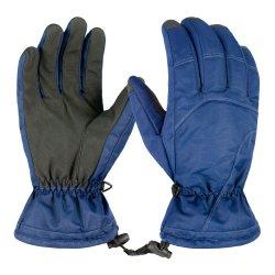 튼튼한 나일론 직물 PU 합성 가죽 스키 장갑은 방풍 Snowboarding 장갑을 방수 처리한다