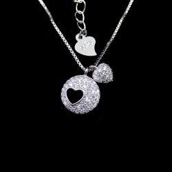 Personalized Pierres Cz Soirée de forme ronde collier avec les bijoux en argent sterling
