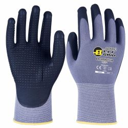 Очень прочный и удобный! 15g нейлон/спандекс с микро-пена песчаных нитриловые покрытие Установите противоскользящие рабочие перчатки и безопасности продуктов