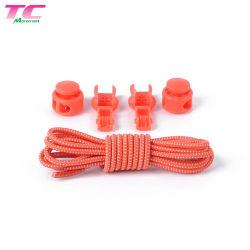 L100cm Sport perezoso grueso en el 3mm redondo perezoso cordones elásticos con cierre de plástico, no al por mayor de 24 colores atar cordones Factory